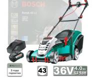 BOSCH ROTAK 43 Li (36В) (0.600.8A4.500) газонокосилка  аккумуляторная