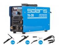 SOLARIS TIG-200 + AK (5.5кВт) Инверторный аппарат аргонодуговой сварки