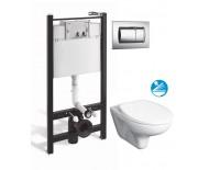 Roca PRO WC инсталляция в комплекте с унитазом Mateo микролифт и кнопкой смыва